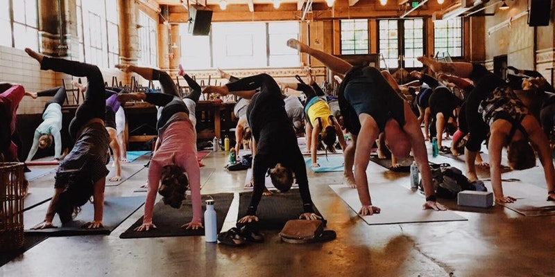 Start out your morning with an hour long, all levels, yoga practice at the Queen Anne Beer Hall followed by a pint of Oktoberfest brew. Sunday doesn't get much better than this! (Image courtesy of Oktoberfest Yoga)