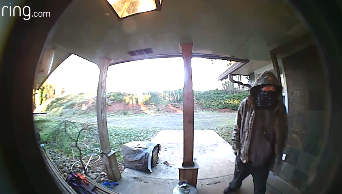 Ring doorbell footage of a man accused of breaking into a Marion County home on Thursday, Dec. 7, 2017 (Courtesy Marion County Sherifff's Office)