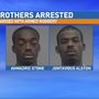 Brothers arrested after victim forced to strip at gunpoint, hit with vase