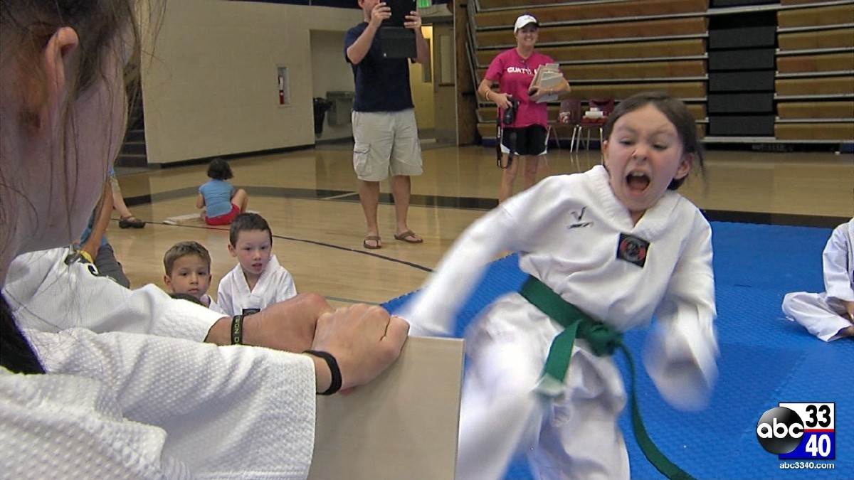 Master Scarsella's World Class Tae Kwon Do raises money for Camp Smile-A-Mile during 3rd Annual Kickin' for Smiles in Chelsea, Alabama, Saturday, August 16, 2014.
