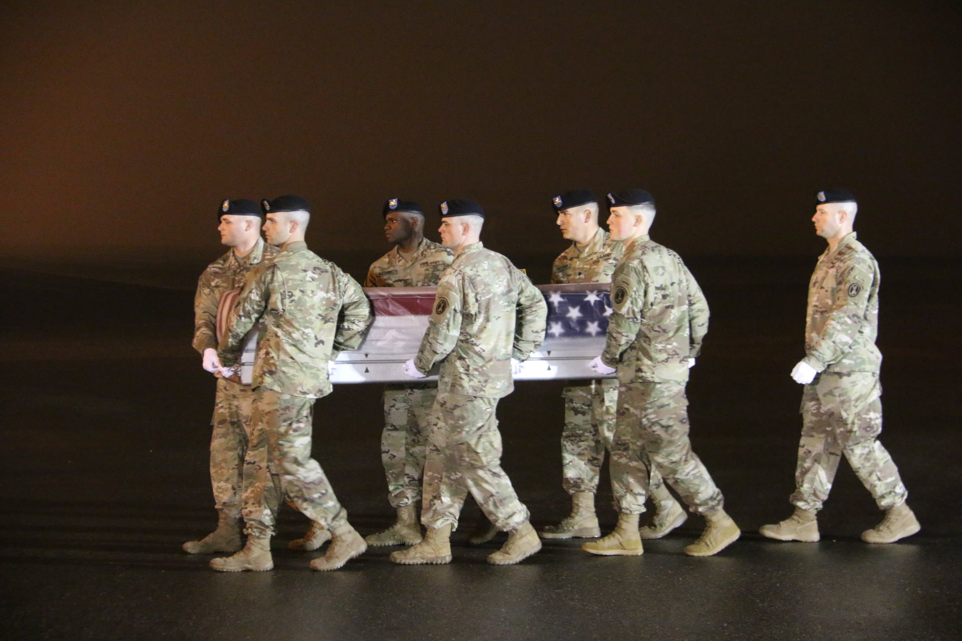 The body of Maj. Brent Taylor are returned to Dover Airfield Base (Photo: Utah National Guard)