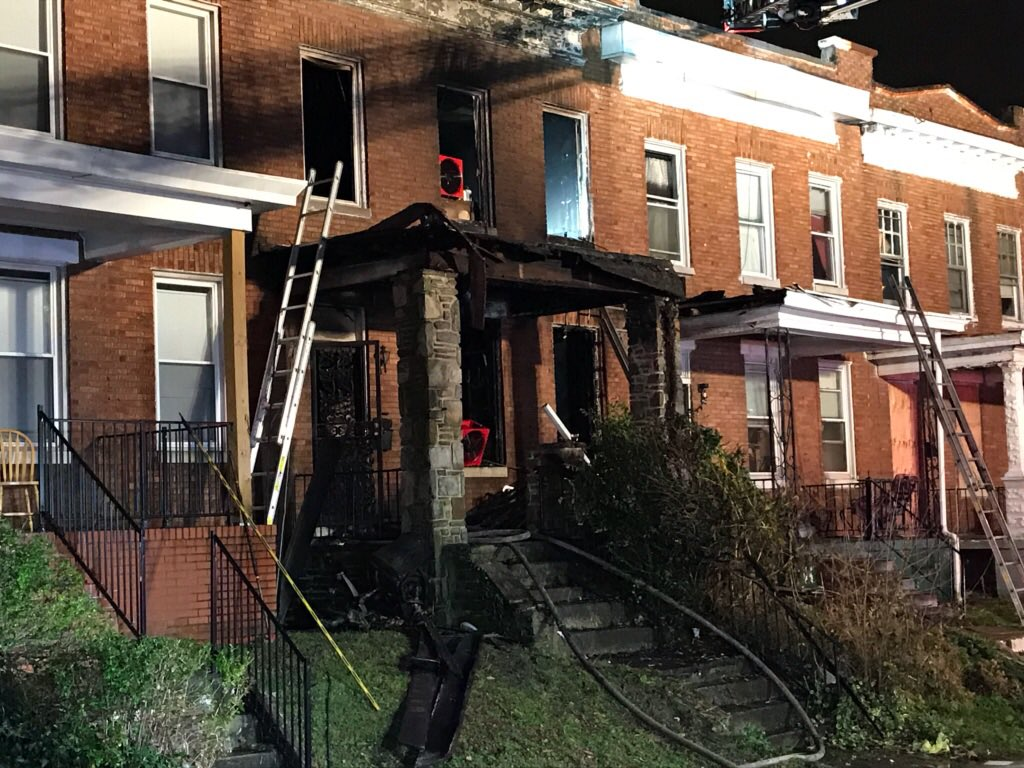 Man dead in overnight house fire in northeast Baltimore(Credit: Baltimore City Fire Department)