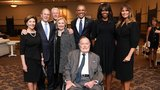 Melania Trump poses with former presidents and first ladies at Barbara Bush's funeral