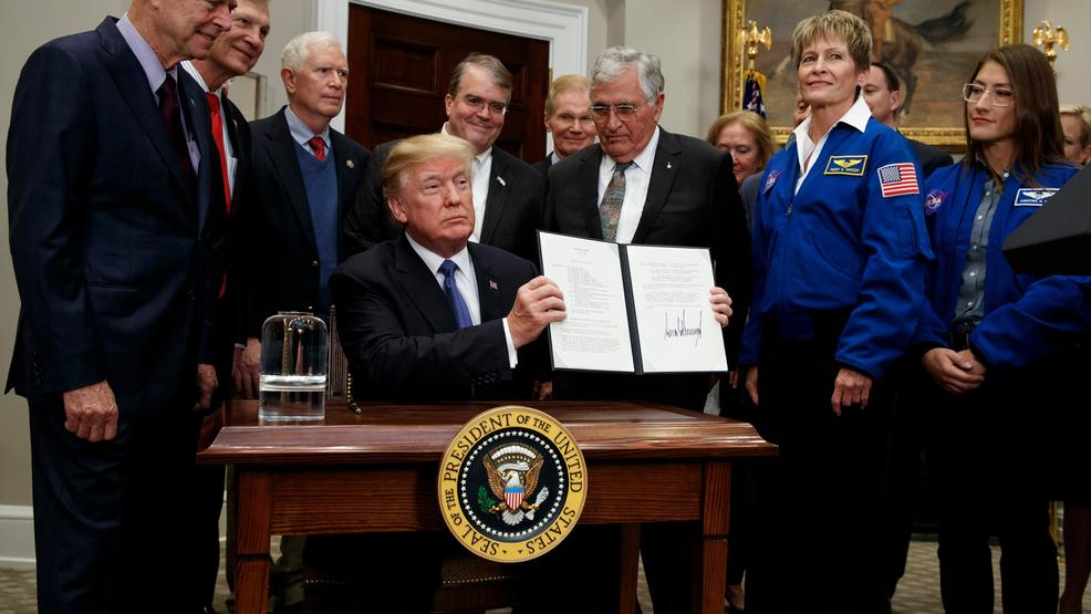 sending an american astronaut back to the moon essay He signed space policy directive 1 which ordered nasa to lead an innovative space exploration programme to send american astronauts back to the moon, and eventually mars.