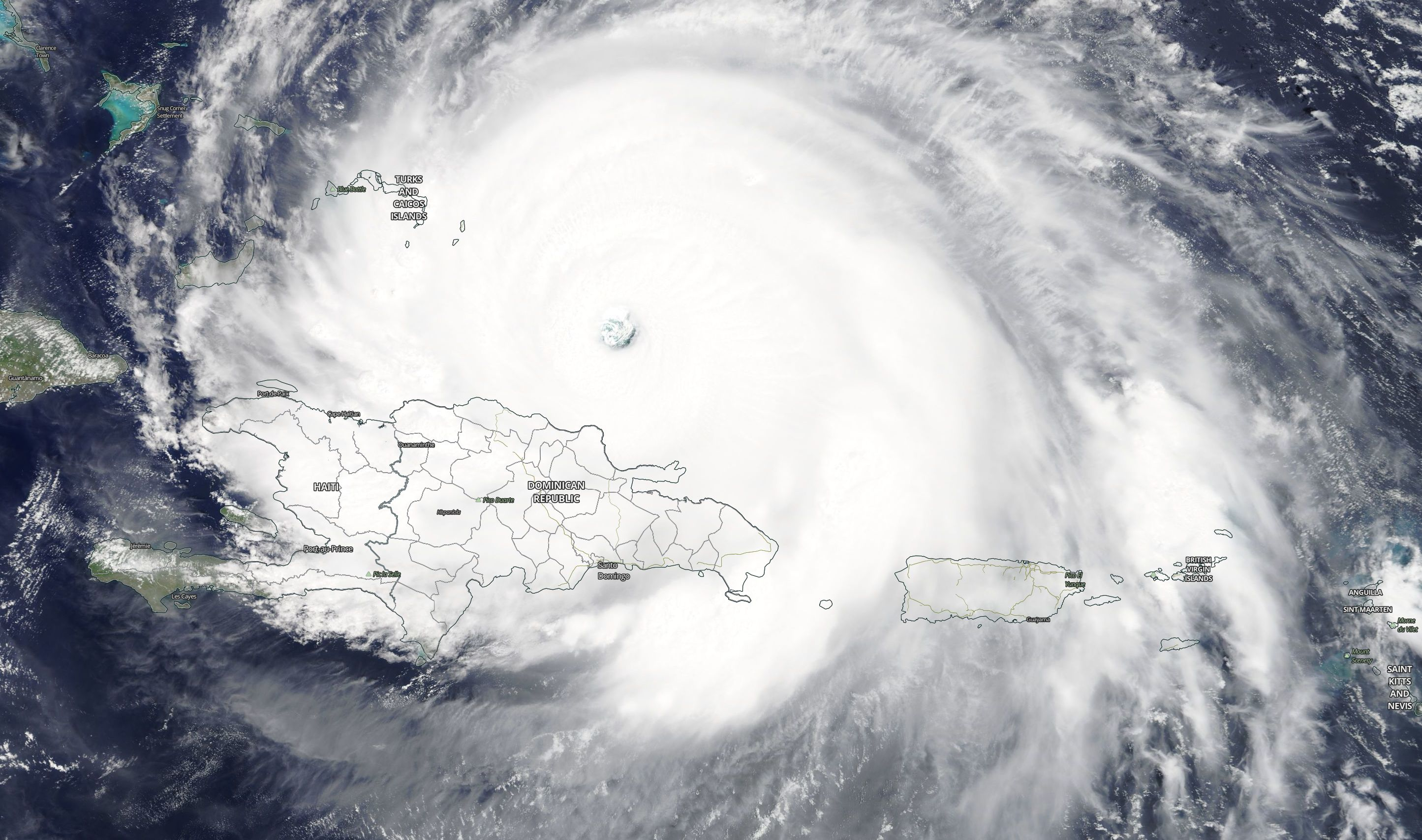 Hurricane Irma as seen on Sept. 7, 2017 (Photo: NASA/MODIS Satellite Image)