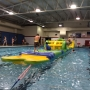 Swimmers at Beach Ottumwa test out new inflatable