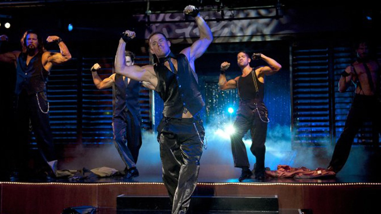 "Actor Channing Tatum (Center) in ""Magic Mike"" (Photo credit: Warner Bros.)"