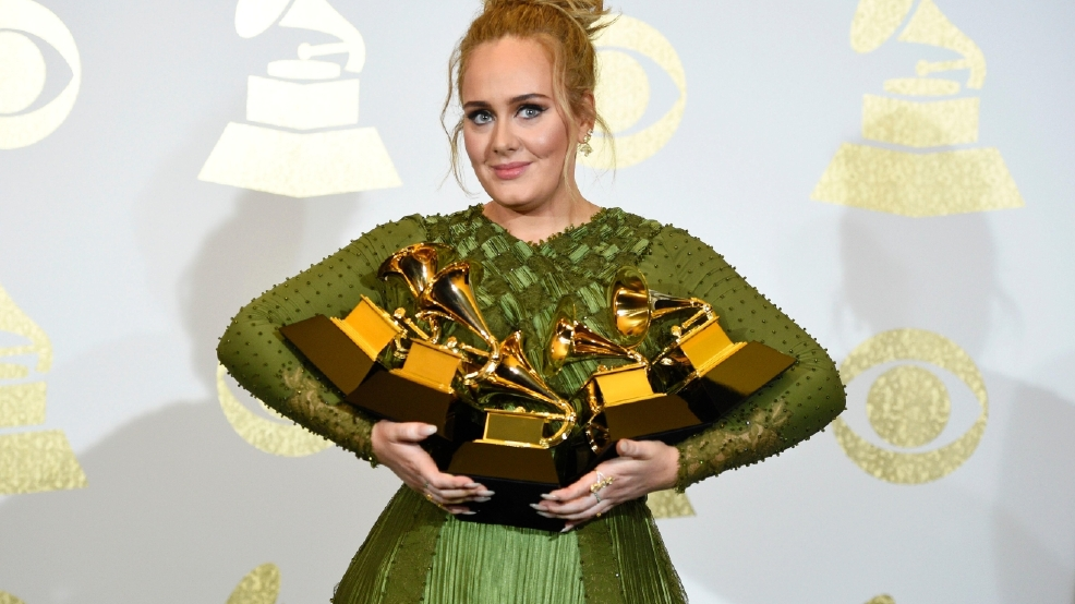 Adele sweeps Grammys Awards with 5 wins, while Bowie wins 4