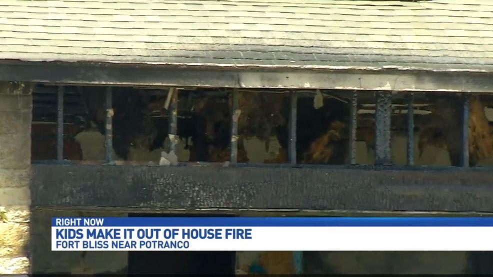 Four Children Home Alone Escape Major House Fire Safely