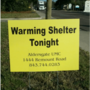 Warming shelters to open Saturday due to expected cold temperatures