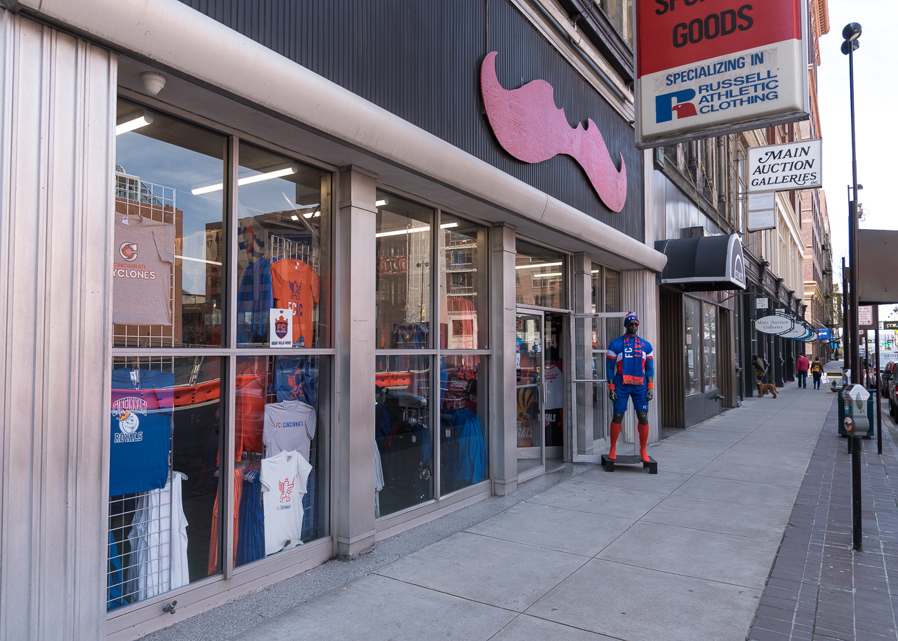 4th Street has a sporting goods store: Koch Sporting Goods / ADDRESS: 131 W 4th Street / Image: Phil Armstrong, Cincinnati Refined // Published: 4.23.18