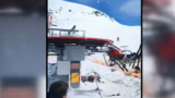 Video: Lift malfunction is skier's worst nightmare come to life