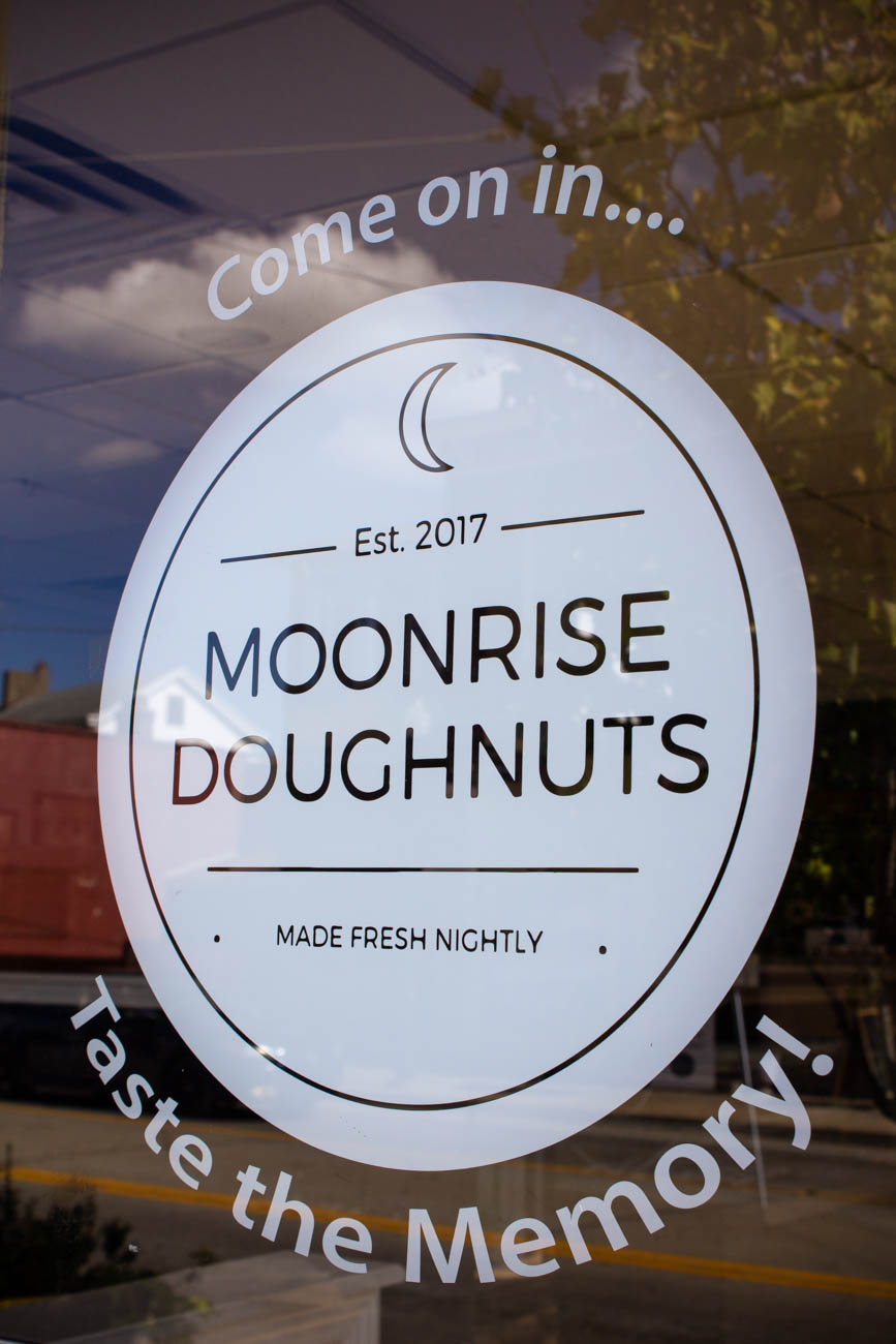 Moonrise Doughnuts is a doughnut shop in the Latonia neighborhood of Covington that opens at dusk. Owner Keith Bales wanted to pay homage to the former Latonia Bakery that sold donuts out of their back door at night when they were baking them for the following day. The shop's walls are covered in old photographs of Latonia. Guests can carry out or dine in. They're open Tuesday through Thursday from 5 to 10 PM, and Friday through Saturday from 6 to 11 PM. ADDRESS: 3718 Winston Avenue (41015) / Image: Katie Robinson, Cincinnati Refined // Published: 10.20.19