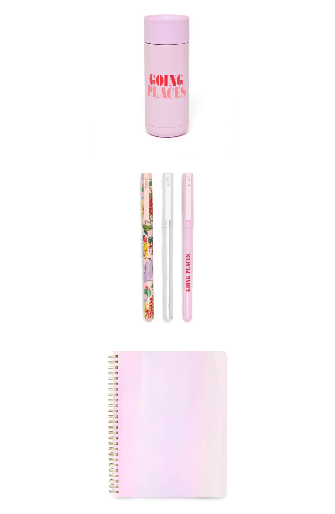 <p>For the constant traveler or creative, this mug, notebook and pen trio set will suit their active life and mind in pretty, whimsical style.{&nbsp;}Price $54.00. (Image: Nordstrom){&nbsp;}</p><p></p>