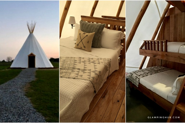 The under floor heating is nice on cool nights. (Image: Courtesy Glamping Hub)