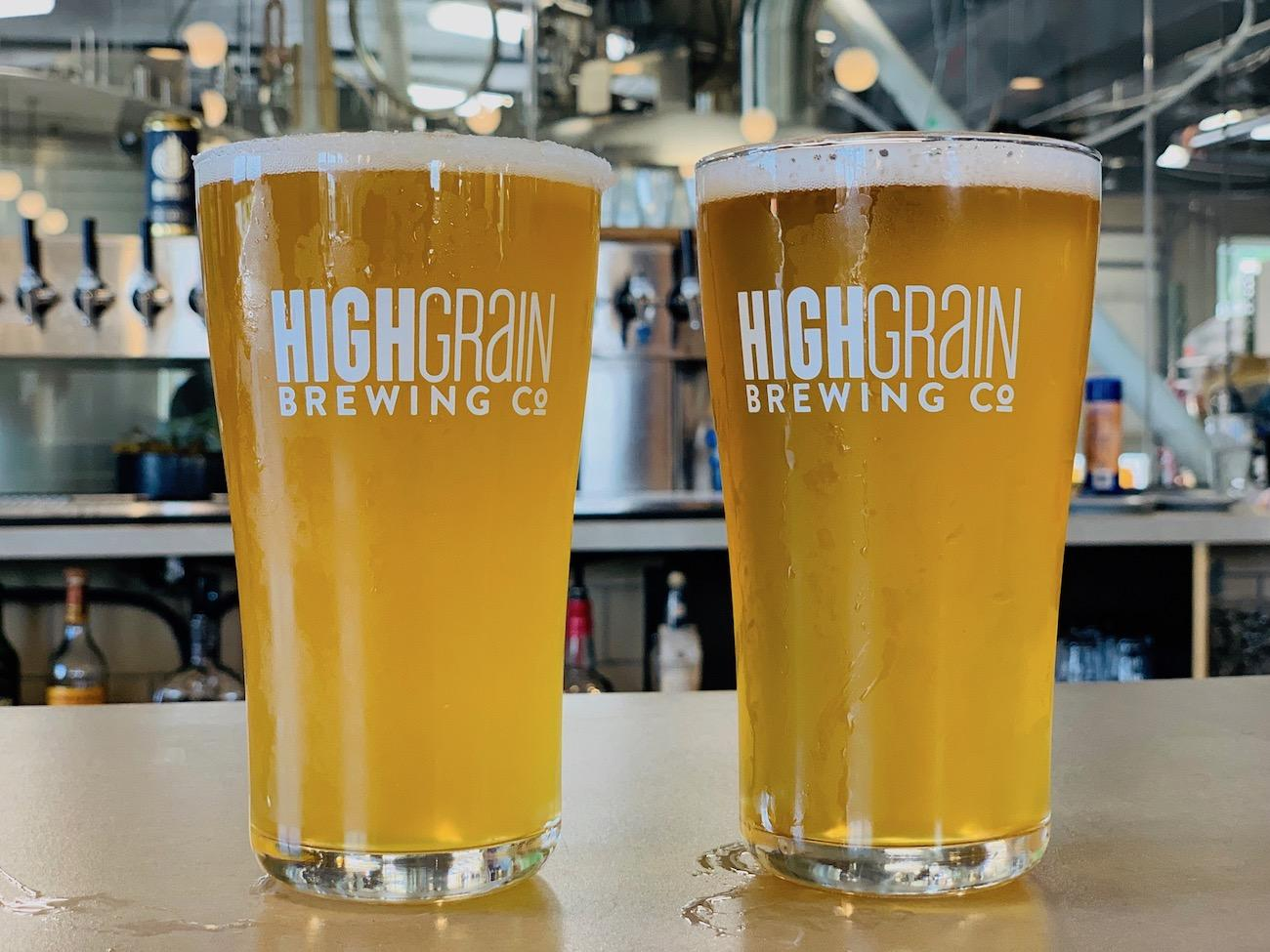 The brewpub offers some 17 original beers on tap, as well as a selection of liquors and wines.{ }/ Image courtesy of HighGrain Brewing Company // Published: 7.16.19
