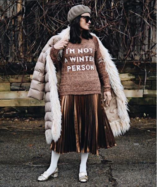 IMAGE: IG user @simplysylviadc / POST: I hear it's the first (official) day of winter, and now you know how I feel about it. Layer up and carry on your fabulous way, friends!