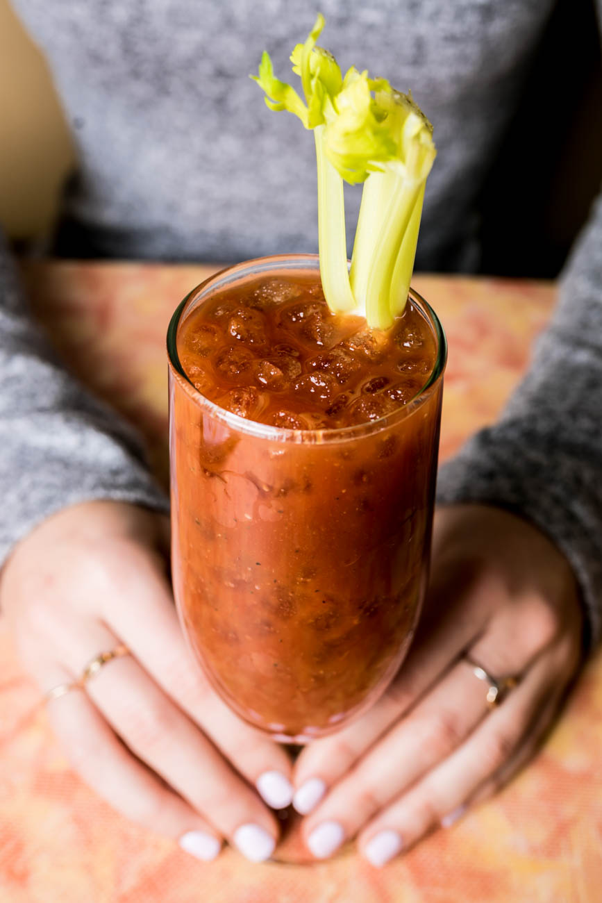 A Bloody Mary made with Echo's spicy horseradish mix / Image: Amy Elisabeth Spasoff // Published: 2.20.18<p></p>