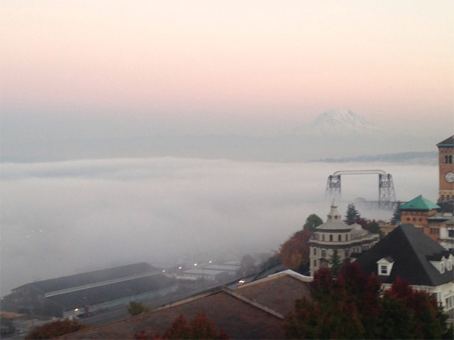 Fog rolling into Tacoma Photo courtesy YouNews contributor: lmeraz