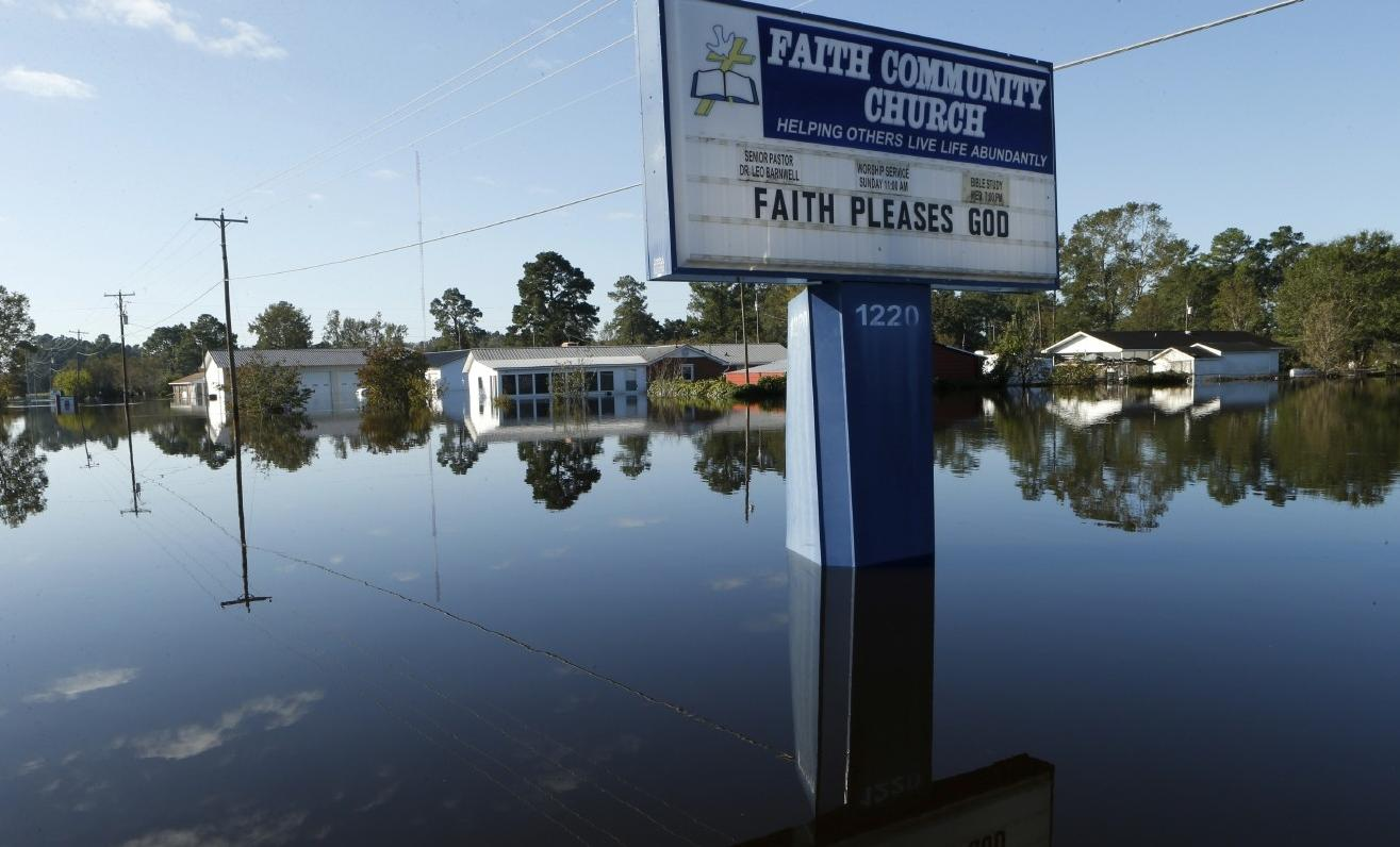 FILE - A South Carolina city is getting about $1 million in federal assistance for the costs of cleaning up after Hurricane Matthew in 2016. (AP Photo/Brian Blanco)