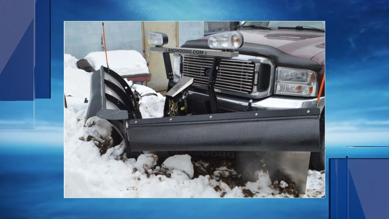 Coventry police released this image of the plow truck they said William Fallon was driving when he struck Matt O'Gara.