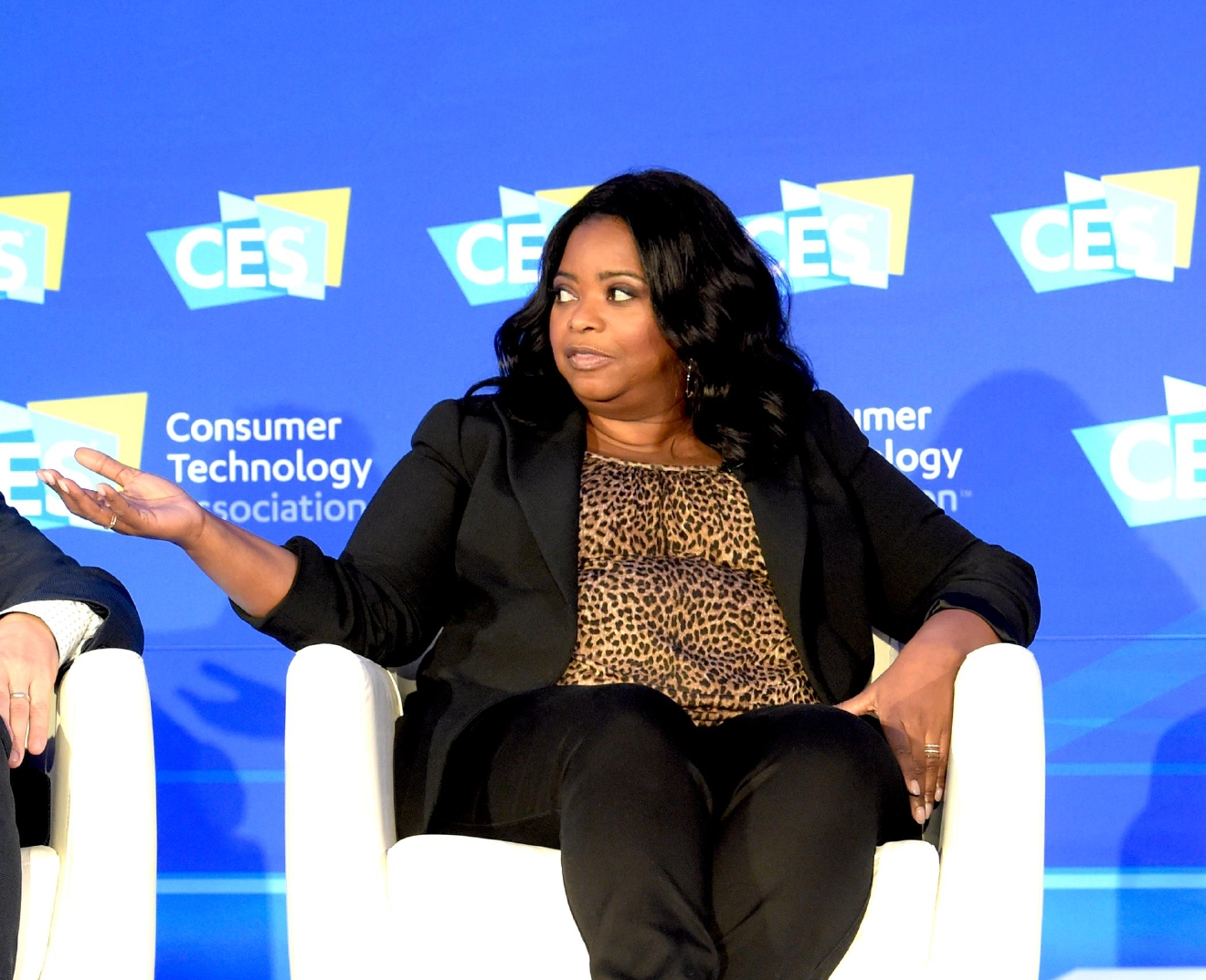 "The Power of Hidden Figures panel discussion with Actress Octavia Spencer from the movie ""Hidden Figures"" speaking during the CES Convention at the Las Vegas Convention Center. Friday, January 6, 2017. CREDIT: Glenn Pinkerton/Las Vegas News Bureau"