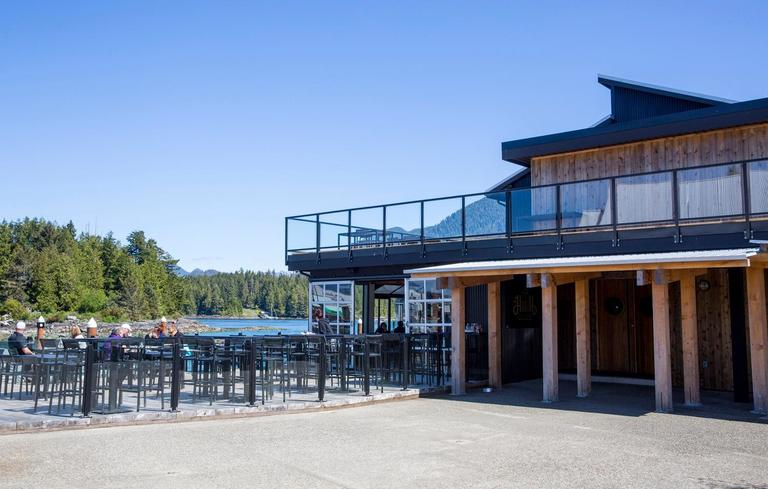 Situated on the west coast of Vancouver Island, Tofino Resort + Marina is the best place to throw your feet up and enjoy incredible views and food after a day jam packed with outdoor activities. The 62-room resort is the only full-service resort situated on the inlet, and is short walk from downtown Tofino. Amenities include the resort's signature 1909 Kitchen, the more casual Hatch Waterfront Pub, the Adventure Center to book your outdoor activities, and a new gym. Don't feel like driving and taking the ferry to Tofino? You can fly with Harbour Air Seaplanes and land right in front of the marina. (Sy Bean / Seattle Refined)