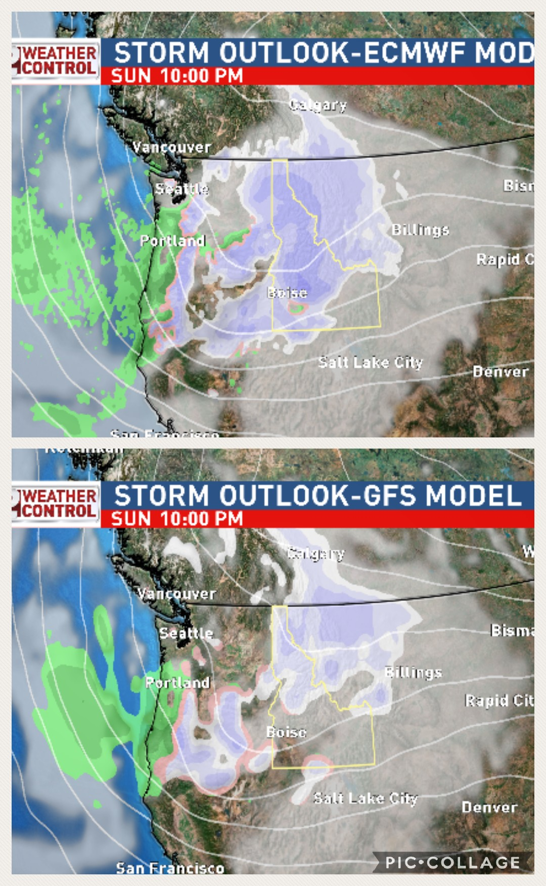 GFS - ECMWF Comparison