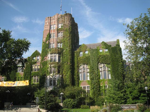 The Michigan Union houses student organizations, student services, study lounges, and restaurants. Its gigantic conference rooms also host the University of Michigan Model United Nations conference every year.