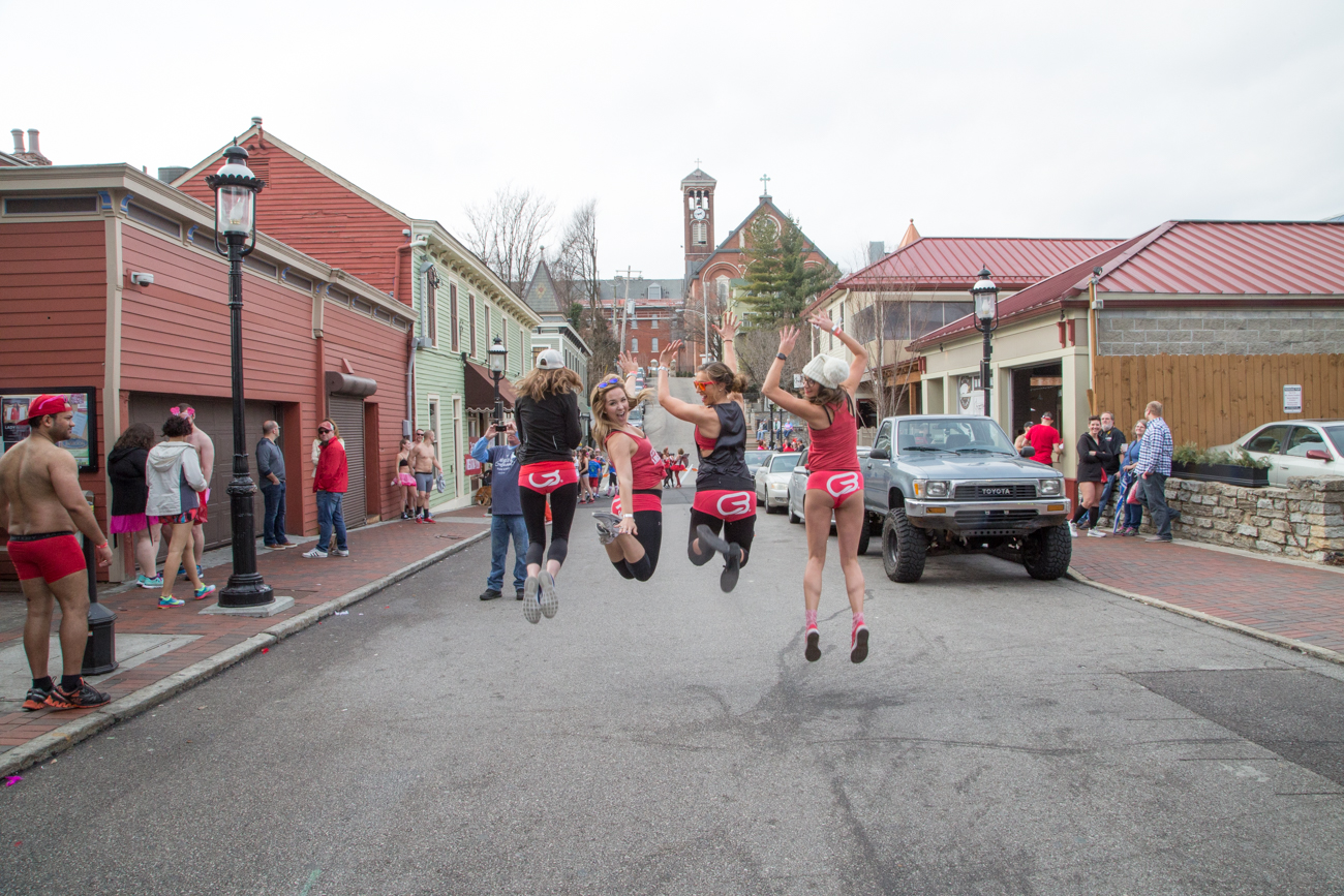 The Cupid's Undie Run (a one-mile run in your underwear) took place on Saturday, Feb. 11 in Mt. Adams. The event raises money for the Children's Tumor Foundation. / Image: Catherine Viox
