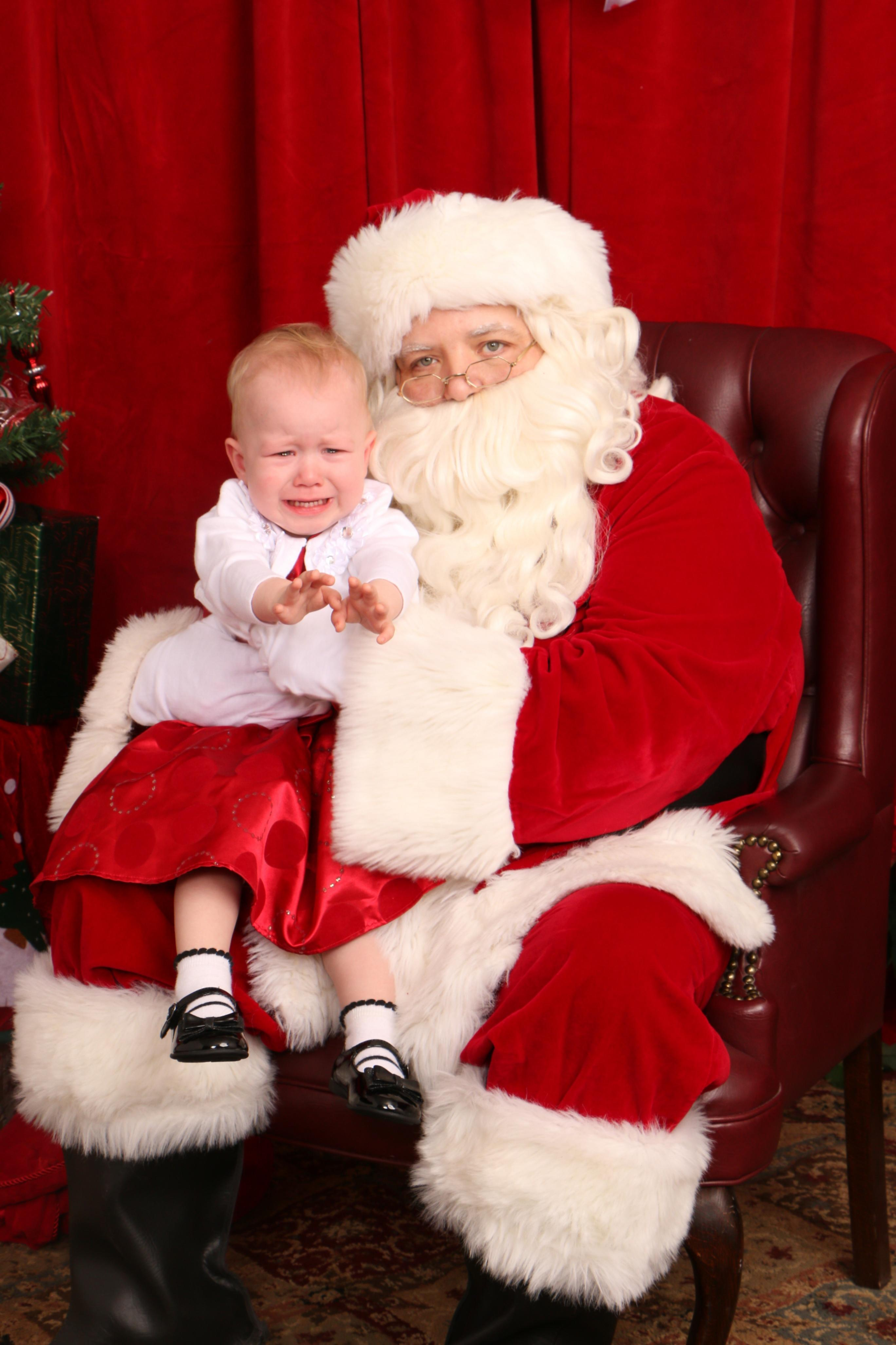 Ah, Santa Claus - the glorious bearded man in the big red suit who fulfills our kiddos holiday dreams and wishes.  Also doubling as, apparently, the scariest man alive. Grab a glass of eggnog, sit back and feast your eyes on these Santa pics gone wrong - or as I call them...realistic Santa pics. (Image: April Havener){ }