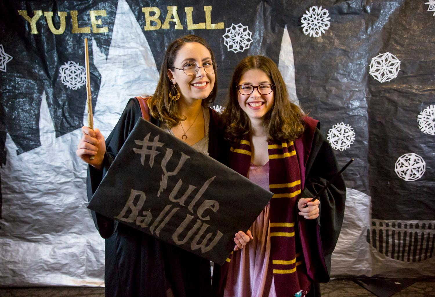 The University of Washington called all the witches and wizards around for the 2018 Yule Ball! Students dressed in costume, casted spells, and drank delicious butter beer. (Sy Bean / Seattle Refined)