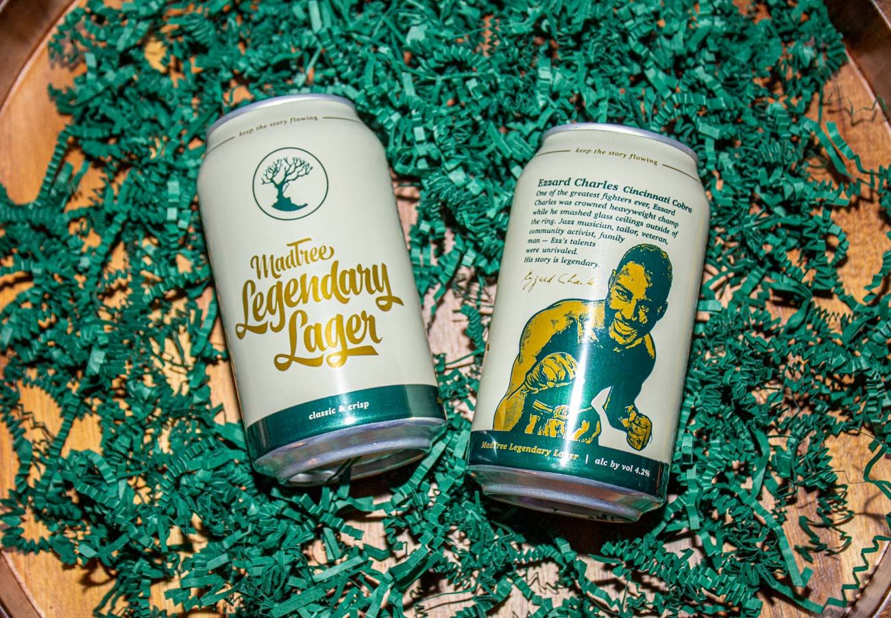 """This beer features legendary stories of the past to encourage you to create your own epic story. Throughout the series, we'll roll out other exciting tales to spark your inspiration and bring you ways to share the legends in your life."" -MadTree Brewing Company / Image: Katie Robinson, Cincinnati Refined // Published: 2.27.21"
