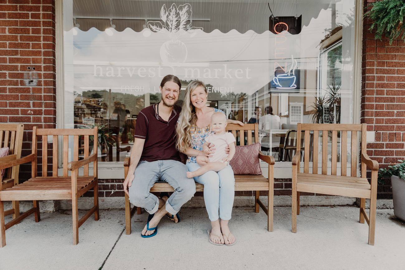 Ben and Maureen Redman (owners) with their daughter /Image: Brianna Long // Published 7.30.18{ }