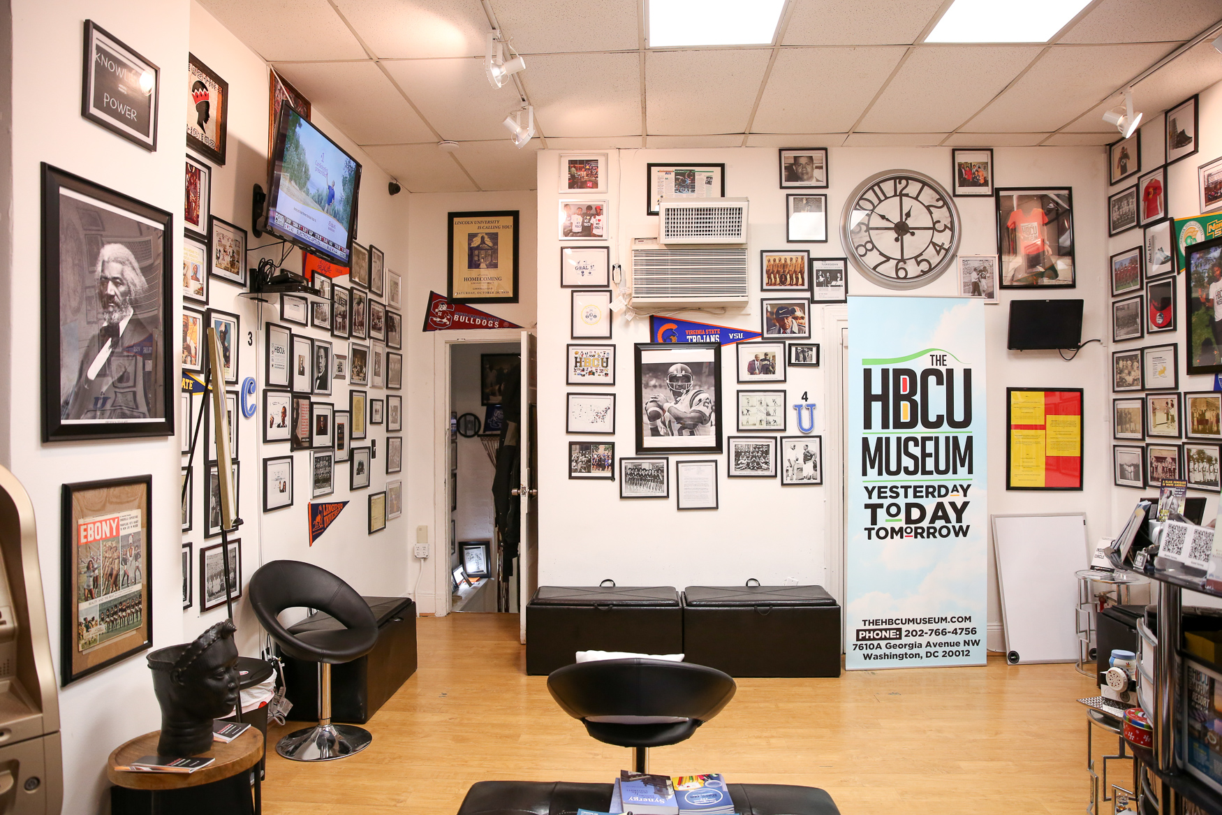 The HBCU Museum (7610 Georgia Ave NW, Washington, DC) was launched less than a year ago, but this Petworth storefront has a wealth of information about HBCUs - Historically Black Colleges and Universities.{ }
