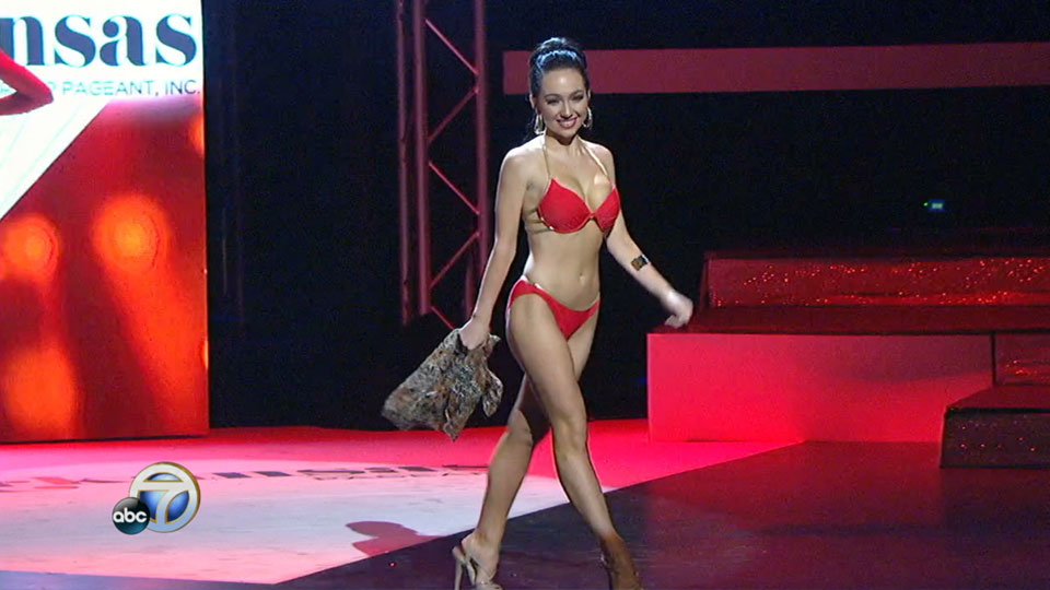Miss Arkansas Swimsuit competition: Jacey Winn (KATV photo)