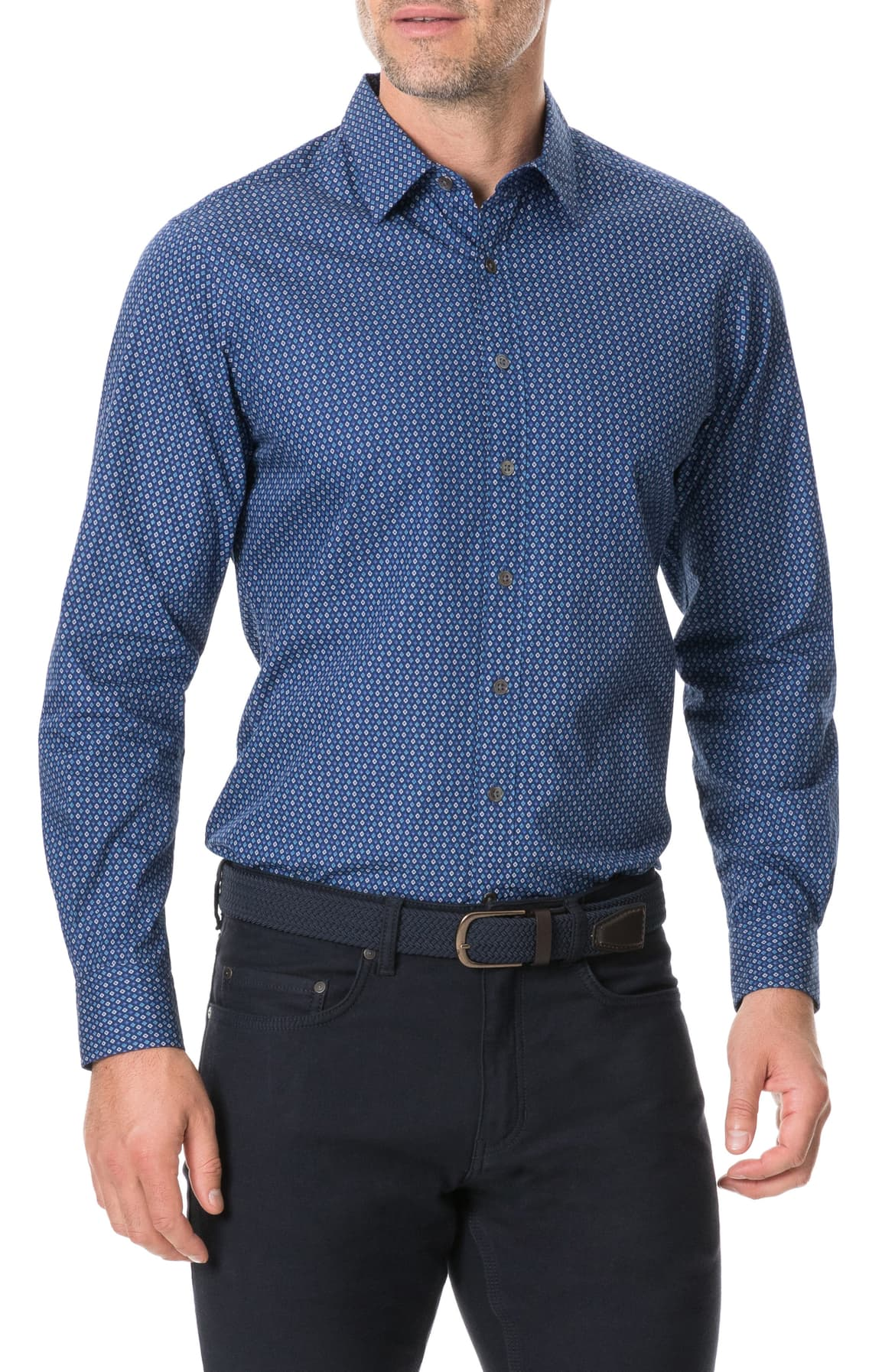 "<p>An eye-catching geo print brings allover polish to a crisp cotton sport shirt cut in a comfortable fit for a look that's both classic and casual. $168.{&nbsp;}<a  href=""https://shop.nordstrom.com/s/rodd-gunn-torrance-street-regular-fit-button-up-shirt/5401515/full?origin=keywordsearch-personalizedsort&breadcrumb=Home%2FAll%20Results&color=marine"" target=""_blank"" title=""https://shop.nordstrom.com/s/rodd-gunn-torrance-street-regular-fit-button-up-shirt/5401515/full?origin=keywordsearch-personalizedsort&breadcrumb=Home%2FAll%20Results&color=marine"">Shop it{&nbsp;}</a>(Image: Nordstrom){&nbsp;}</p>"