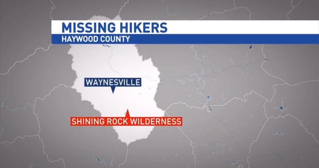 Two hikers went missing in the Shining Rock Wilderness area of Haywood County on Friday morning. Dispatchers say the men checked in via a 911 call early Saturday morning (Photo credit: WLOS)