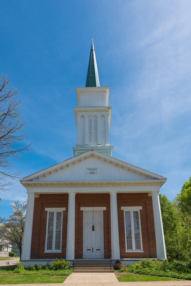 Cranston Memorial Presbyterian Church is located at the corner of Union and Washington Streets. The church was established in 1821, but the current structure was built in 1856. / Image: Sherry Lachelle Photography // Published: 5.22.17