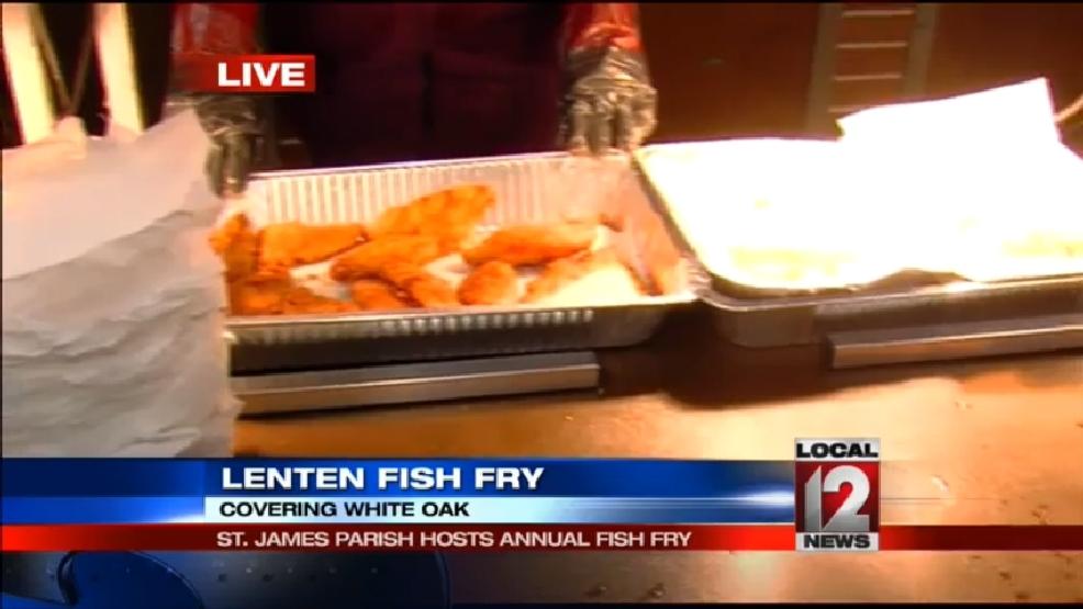 Fish fry friday sydney benter at saint james parish 1 wkrc for Local fish fry