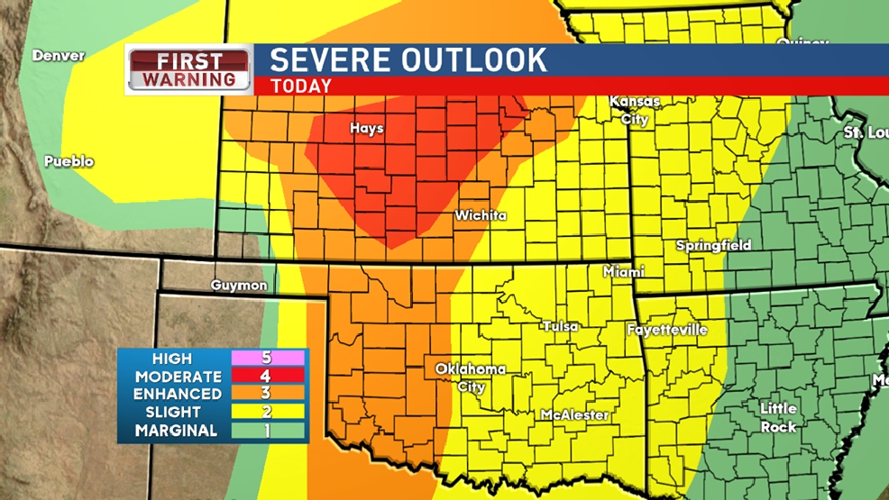 THURSDAY FORECAST: Slight risk of severe weather
