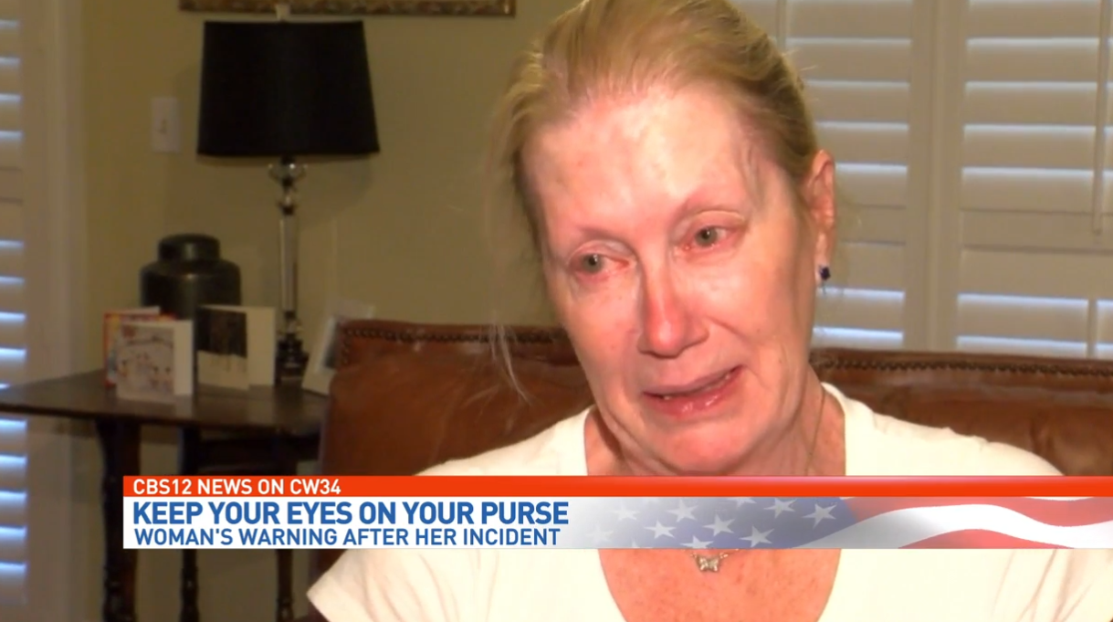 Senior living in fear after she says purse was taken from public restroom stall. (WPEC)