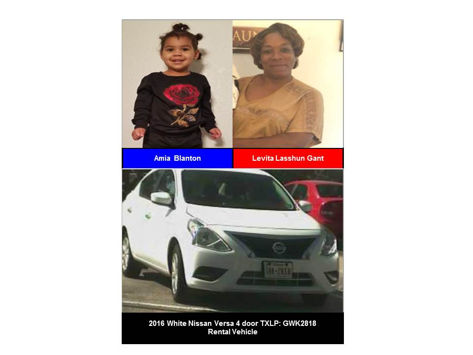 Missing Toddler Amia Blanton (Photos provided by Mesquite Police Department)
