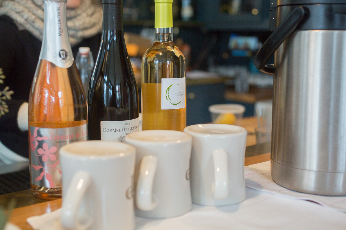 Wine and coffee is served. (Image: Paola Thomas / Seattle Refined)