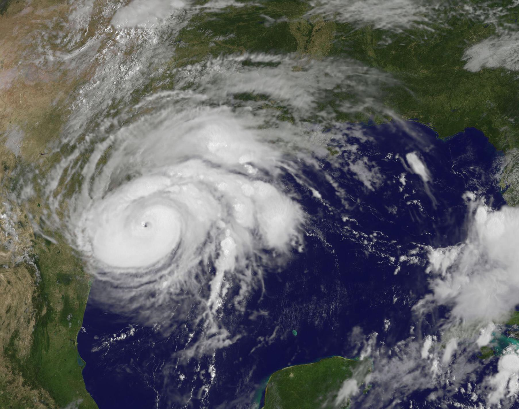 Image of Hurricane Harvey taken from NOAA's GOES East satellite on Aug. 25 at 10:07 a.m. EDT Credits: NASA/NOAA GOES Project