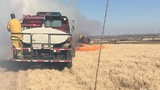 Grass fire near Geary burned 50+ acres, threatened structures