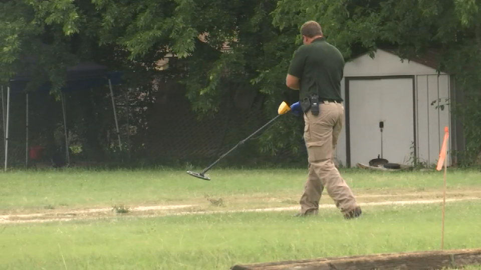 New Braunfels police process the area where high school student Conrad Kuntz, 17, was killed over the weekend. (Photo: Sinclair Broadcast Group)