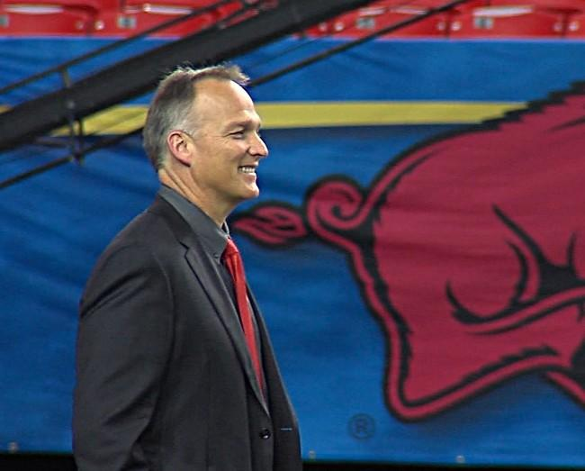 Georgia head coach Mark Richt during a walk through in the Georgia Dome on Friday.
