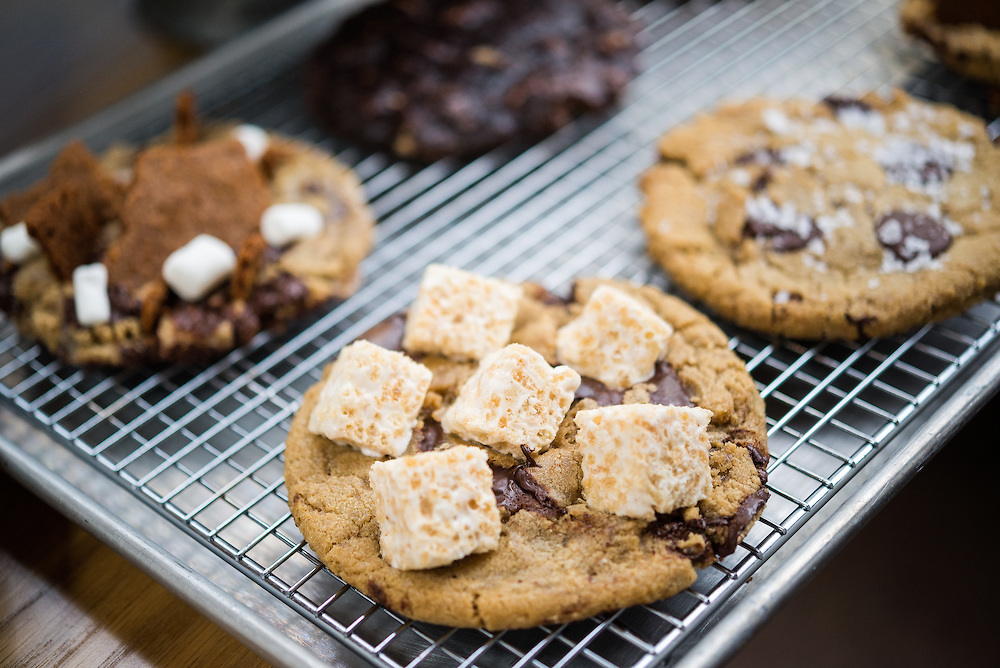 What could be better than an oversized chocolate chip cookie? One topped off with miniature Rice Krispies treats. (Image: Courtesy Summer House Santa Monica)
