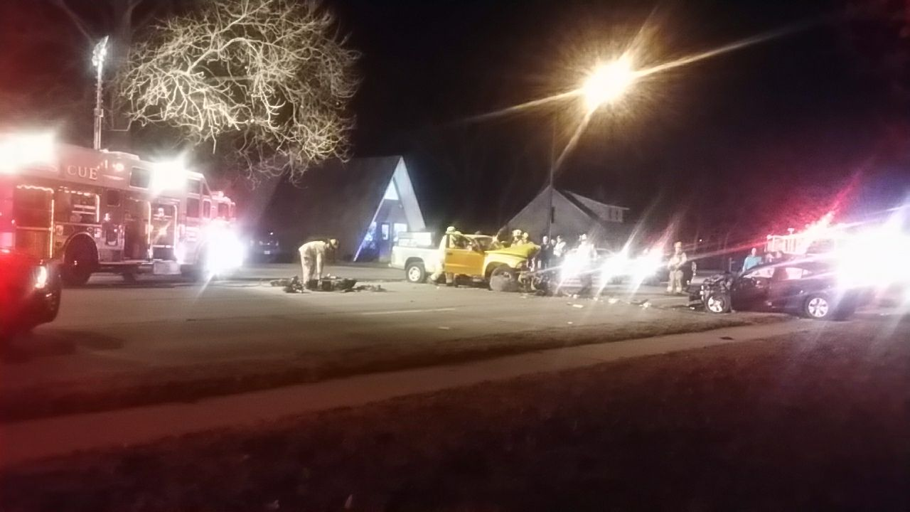 A 2-vehicle crash Thursday night in the 3900 block of Lincolnway East // Photo courtesy of Devon Brugh